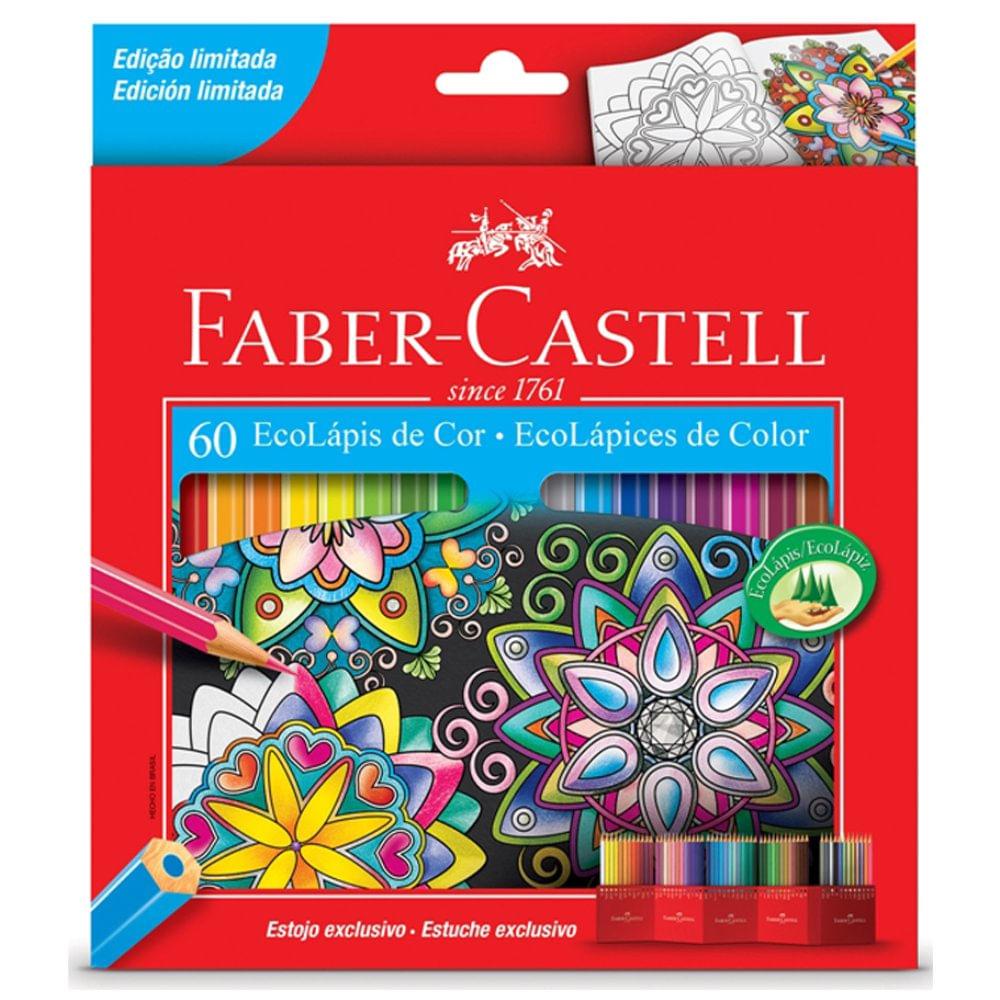 2ac961c17c Ecolápis de Cor Sextavado Estojo c  60 cores Faber-Castell - Castro ...