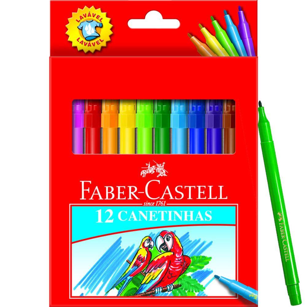 26b8d6360f Caneta Hidrográfica Regular Estojo c  12 Cores Faber-Castell ...