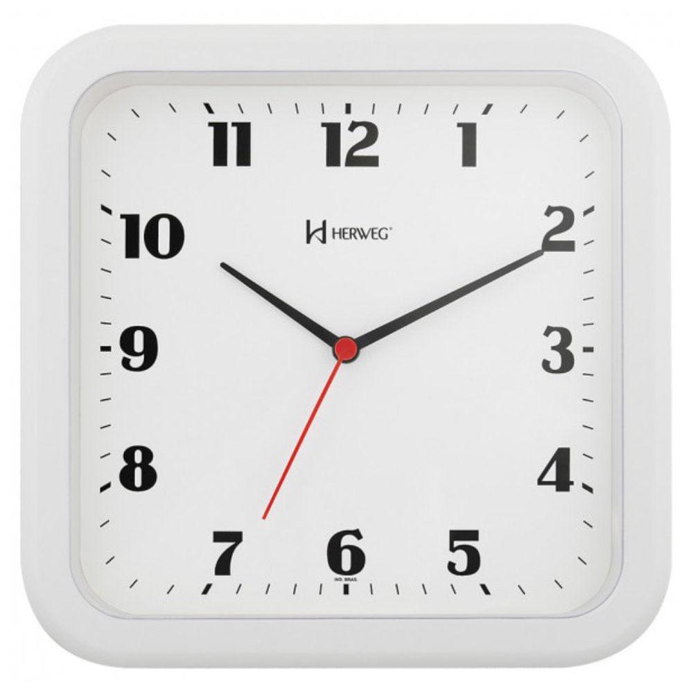 b9e75e32de1 Relógio de Parede 23cm Plástico cor Branco Ref. 6145-21 Herweg ...