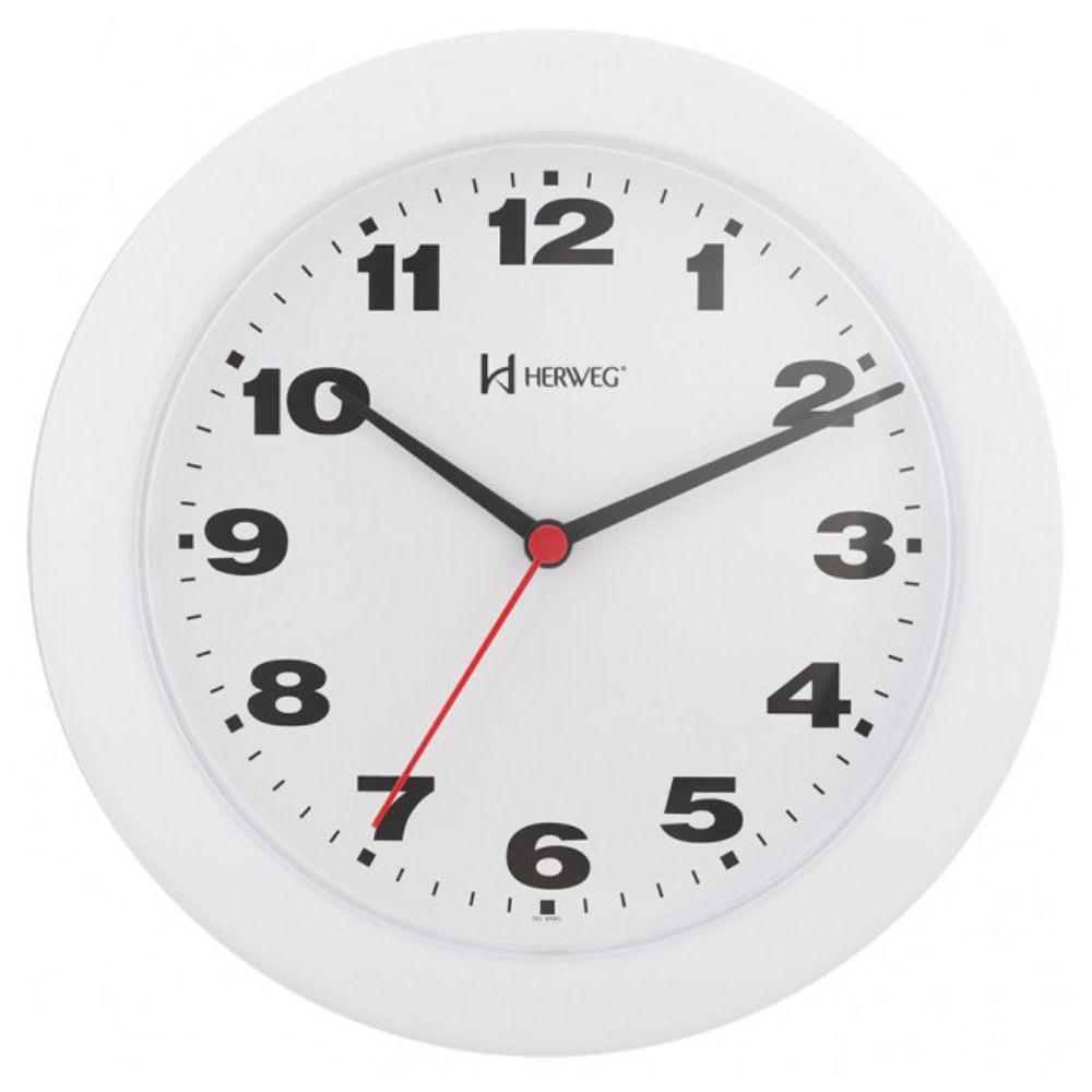 543858f4789 Relógio de Parede 21cm Plástico cor Branco Ref. 6103-21 Herweg ...