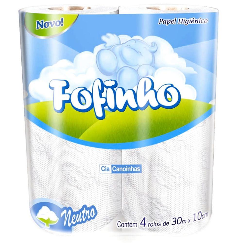 papel higiênico folha simples fofinho fardo com 64 rolos de 30m