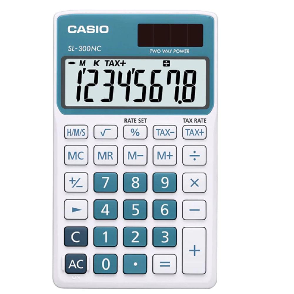 381e884a919 Calculadora Digital Portátil 8 Dígitos Solar e Bateria cor Branca e ...