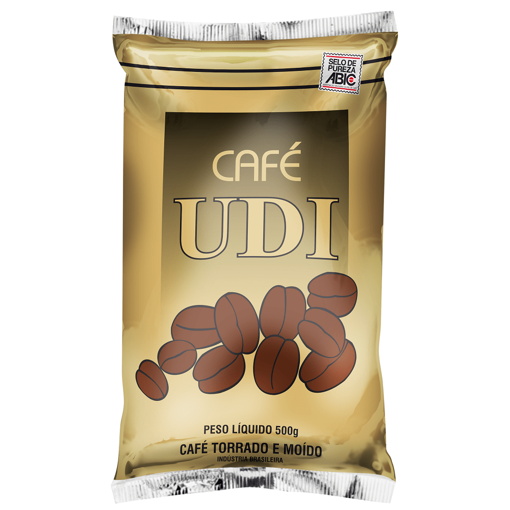 Café Torrado Moído Udi Pacote com 500grs